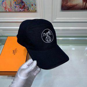 Hermes Baseball Cap Hat Unisex Black